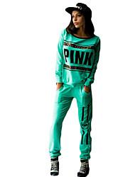 Sweat à capuche Pantalon Costumes Femme,Citations & Dictons Sports Décontracté / Quotidien Chic de Rue Automne Hiver Manches longues Col