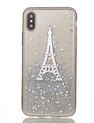 Назначение iPhone X iPhone 8 iPhone 8 Plus Чехлы панели С узором Задняя крышка Кейс для Эйфелева башня Мягкий Силикон для Apple iPhone X