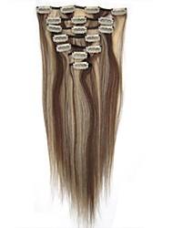 20 pouces en soie droite 7 pièces 70g clip en extensions de cheveux supérieures remy extensions clip dans les cheveux