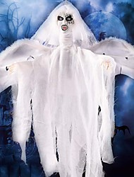 Halloween Decoration Bats luminous Hanging Ghost with Chain Light up Eyes Sound and Sensor for Halloween Props