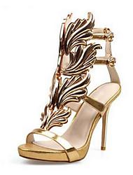 Для женщин Обувь Замша Лето Удобная обувь Обувь на каблуках С Назначение Повседневные Золотой Черный Серебряный