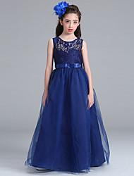 принцесса длина длина цветок девушка платье - хлопок тюль жемчужина шеи by baihe