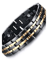 Men's Chain Bracelet Bangles Multi-stone Natural Fashion Titanium Steel Circle Jewelry Jewelry For Gift Daily