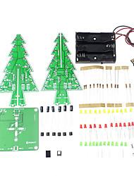 Ensemble d'apprentissage de l'arbre de noël 3D conduit à l'apprentissage de la lumière colorée diy ensemble électronique pour la