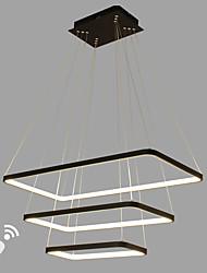 dimmable llevado luz colgante moderno / contemporáneo blanco negro característica aluminio salón comedor sala de oficina con control