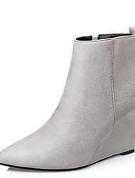 Damen Schuhe Echtes Leder Nubukleder Herbst Winter Pumps Stiefeletten Stiefel Blockabsatz Runde Zehe Mit Schleife Für Kleid Schwarz Grau