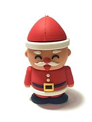 32gb natal usb flash drive cartoon criativo santa claus natal presente usb 2.0