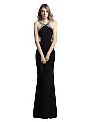 Mermaid / Trumpet Straps Floor Length Jersey Prom Formal Evening Dress with Beading by Sarahbridal