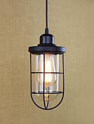 luz de colgante linterna retro país pintura característica de bombilla de edison diseñadores mini estilo metal comedor sala de estudio /