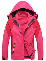 Women's Cycling Jacket Windproof Rain-Proof Wearable Breathability Full Length Visible Zipper 3-in-1 Jacket for Camping / Hiking Cycling