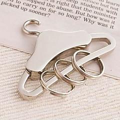 כרום מצדדים במחזיק מפתחות חתיכה / סט מחזיקי מפתחות נושא קלאסי כסף