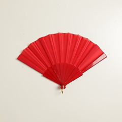 Seide Ventilatoren und Sonnenschirme-# Stück / Set Handfächer Garten Thema Klassisches Thema Rot 42cmx23cmx1cm 2.4cmx23cmx1cm