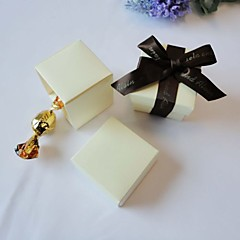 Square Ivory Favor Box (Set of 24)