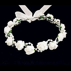 Women's Flower Girl's Foam Headpiece-Wedding Special Occasion Casual Flowers