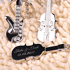 Personalized Key Ring - Violin and Guitar (set of 6 pairs)
