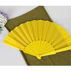 Seide Ventilatoren und Sonnenschirme-# Stück / Set Handfächer Garten Thema Klassisches Thema Gelb 42cmx23cmx1cm 2.4cmx23cmx1cm