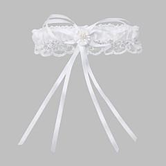 sophisticate Polyester mit Nachahmungen von Perlen Hochzeit Strumpfbänder