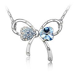 kristall romantisk båge halsband