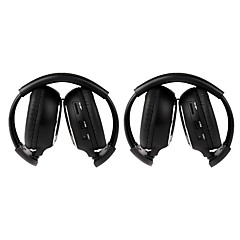 2 PCS Infrared Stereo Car Wireless Headphone IR-2011D