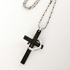 Cross and Ring Necklace