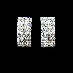 Fabulous Rhinestones With Silver/Alloy Plating Bridal Earrings