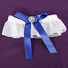 prakt royal blue bryllup strømpebånd