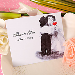 Personalisert Flat Kort Bryllupsinvitasjoner Takkekort-50 Stykke/Sett Klassisk Stil / Moderne Stil Perle-papir6.5*4.5 tommer (ca.
