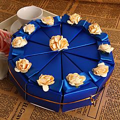 caixas de bolo azul favor (conjunto de 10)