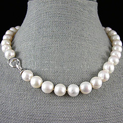 Single Strand 12-13MM Freshwater Pearl Necklace – 17.5-18 Inch