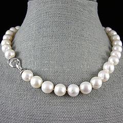 single strand 12-13mm sladkovodní perlový náhrdelník - 17.5-18 inch