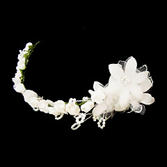 Women's Satin / Imitation Pearl / Paper Headpiece-Wedding / Special Occasion Headbands / Flowers