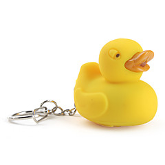 Duck Keychain with LED Flashlight and Sound Effects (Yellow)