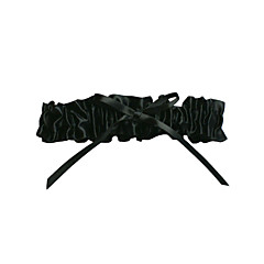 Kouseband Satijn Polyester Strik Zwart