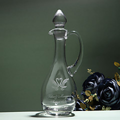 Personalized Name And Date Decanter with Swan Design