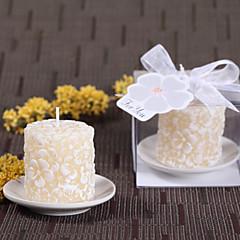 Plumeria Floral Candle Favors