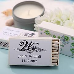 decoração do casamento caixas de fósforos personalizadas - (conjunto de 12)