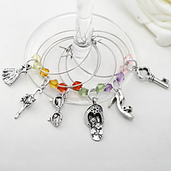 "Bottle Favor-6Piece/Set Charms Classic Theme Silver 1 3/4"" in diameter (4.5cm in diameter)"