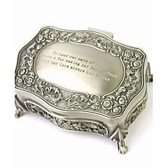 Personalized Gorgeous Decorative Pattern Tin Alloy Women's Jewelry Box
