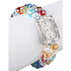 Charming Multicolor Lampwork Glass Square Women' Watch