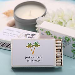 decoração do casamento caixas de fósforos personalizadas - Árvore de Coconot (conjunto de 12)