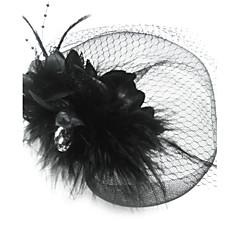 Femme Plume / Tulle Casque-Occasion spéciale Voile de cage à oiseaux Comme l'image