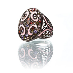 Gorgeous 23K Gold Plated Cubic Zirconia Ring