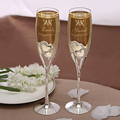 Personaliserte champagneglass – Love Birds