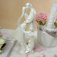 Kakkukoristeet Non-personalized Klassinen pari Resin Häät / Vuosipäivä / Bridal Shower-kutsut Rhinestone Valkoinen Klassinen teema OPP
