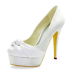 Spring / Summer / Fall / Winter Heels Wedding Stiletto Heel RufflesBlack / Blue / Pink / Purple / Red / Ivory / White / Silver / Gold /