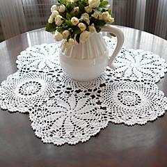 Set aus 2 handmadeCrocheted Weiß Vintage Look Tischsets