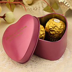 24 Piece/Set Favor Holder-Heart-shaped Tins Favor Boxes Favor Tins and Pails Personalized