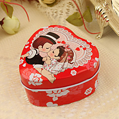 "12 Piece/Set Favor Holder - Heart-shaped Tins Favor Tins and Pails ""Kiss"""