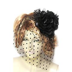 נשים תחרה טול כותנה פלנל כיסוי ראש-חתונה אירוע מיוחד קישוטי שיער