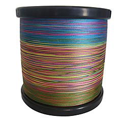 1000M / 1,100 יארד PE  / Dyneema חוט קלוע חוט דיג ירוק / כתום / צהוב / סגול / פוקסיה / אדום / כחול / מבחר צבעים8LB / 10LB / 20LB / 25LB /
